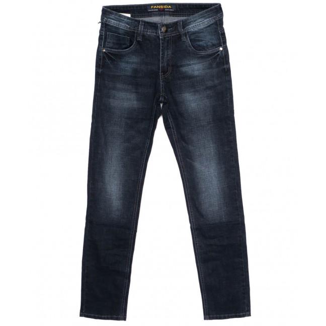 0693 Fansida джинсы мужские синие осенние стрейчевые (30-38, 8 ед.) Fansida: артикул 1098356