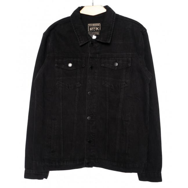 1002-1 R.Kroos куртка мужская джинсовая черная осенняя котоновая (L-5XL, 6 ед.) R.Kroos: артикул 1098214