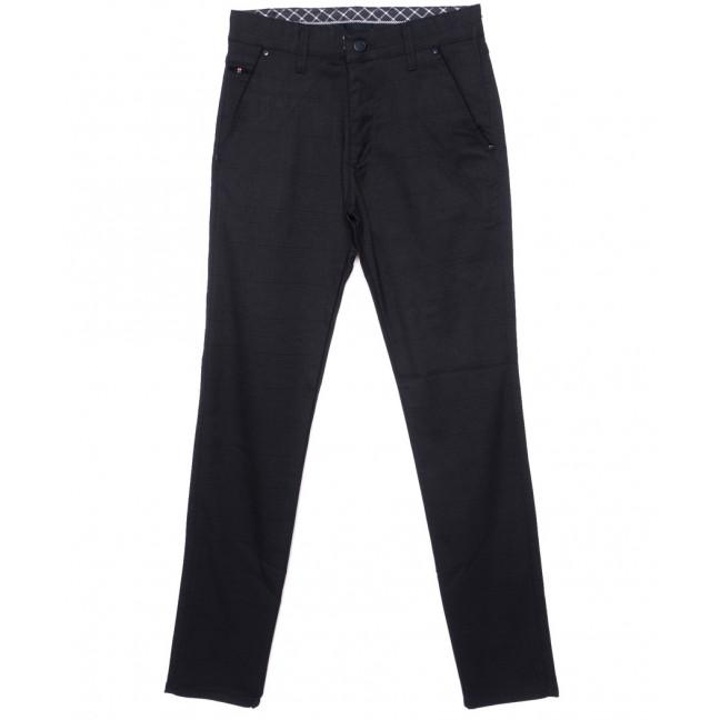 0788-1 New Jarsin брюки мужские темно-синие осенние стрейч-котон (30-36, 8 ед.) New Jarsin: артикул 1097014
