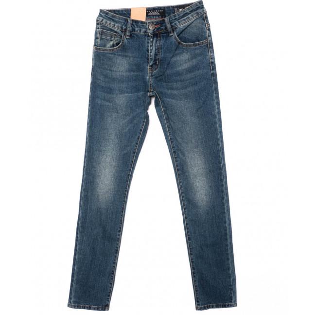 2159 Fang джинсы мужские молодежные синие осенние стрейчевые (28-34, 8 ед.) Fang: артикул 1097249
