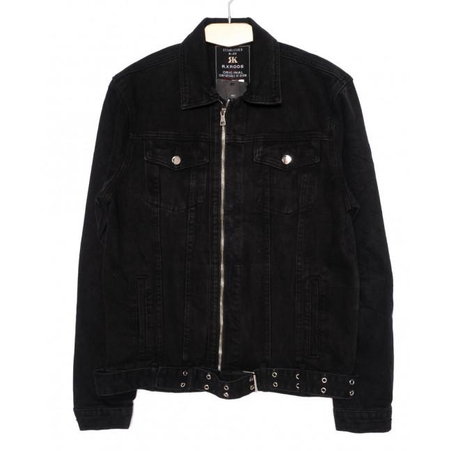 1006 R.Kroos куртка мужская джинсовая на змейке черная осенняя котоновая (S-3XL, 6 ед.) R.Kroos: артикул 1098211