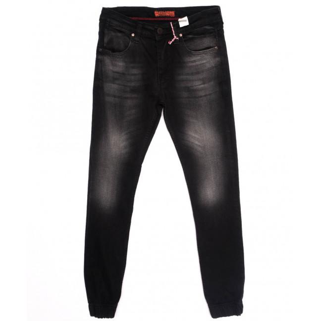 5056 Denim джинсы мужские с царапками на резинке темно-серые осенние стрейчевые (29-36, 8 ед.) Denim: артикул 1097560