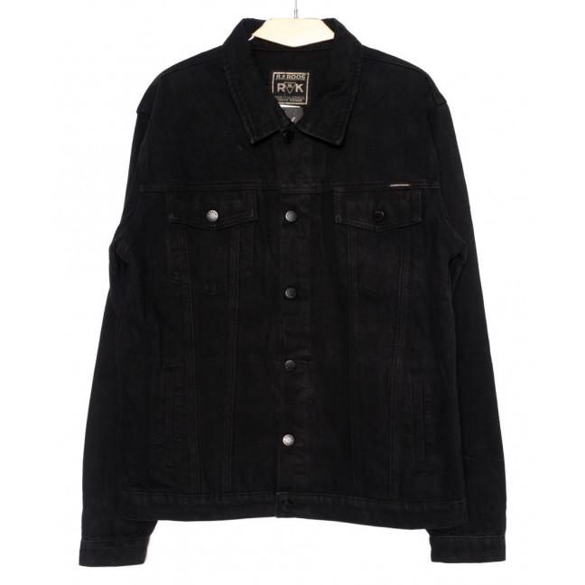 1005-1 R.Kroos куртка мужская джинсовая черная осенняя котоновая (L-5XL, 6 ед.) R.Kroos: артикул 1098213