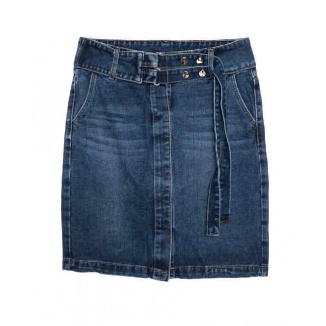 1394 Lady N юбка джинсовая батальная синяя осенняя котоновая (28-33, 6 ед.) Lady N: артикул 1097529