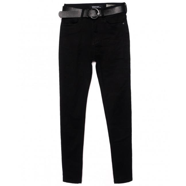 81311 Vanver джинсы женские зауженные черные осенние стрейчевые (25-30, 6 ед.) Vanver: артикул 1098314