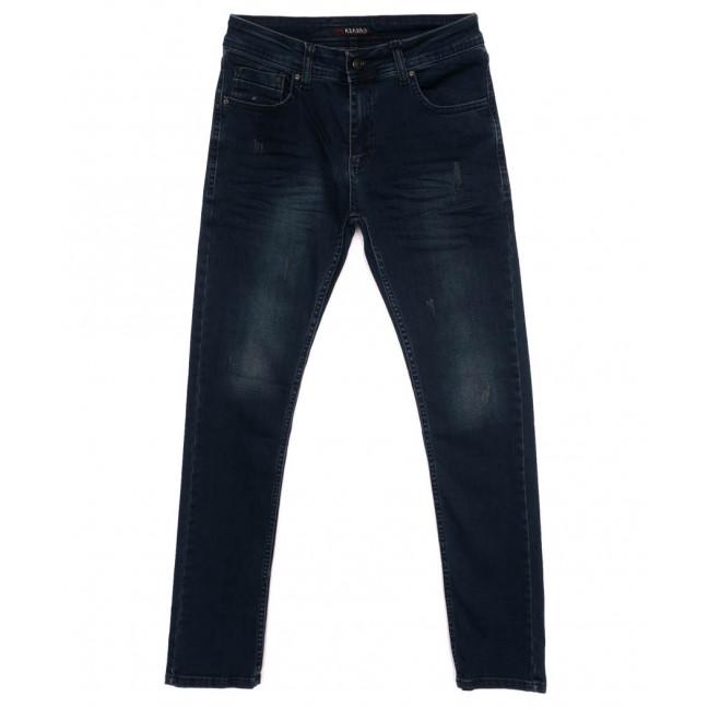 6874 Azarro джинсы мужские с царапками синие осенние стрейчевые (29-36, 8 ед.) Azarro: артикул 1097574