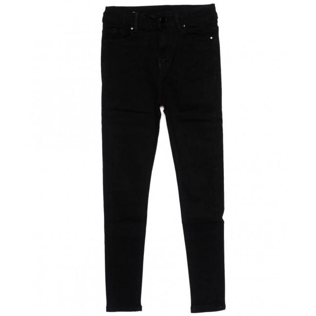 3392 New jeans американка черная осенняя стрейчевая (25-30, 6 ед.)  New Jeans: артикул 1098609