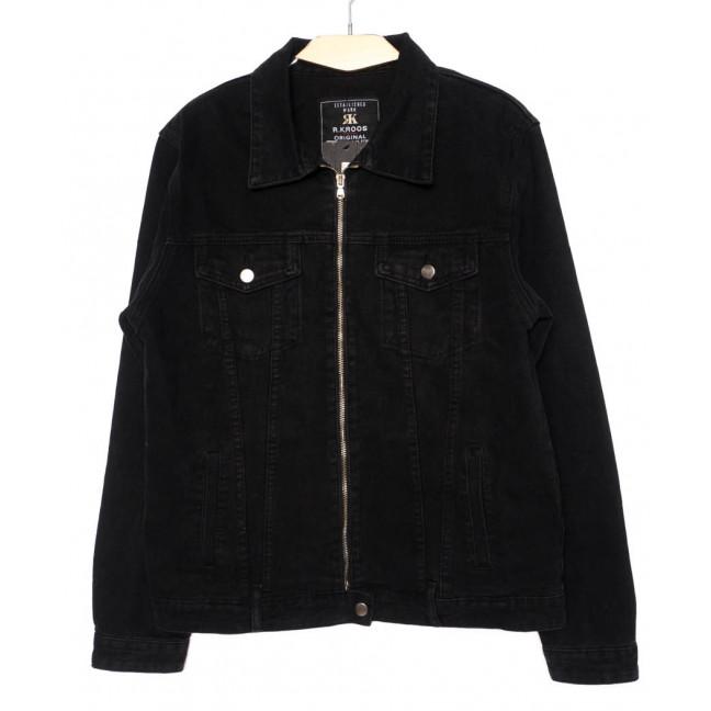1007 R.Kroos куртка мужская джинсовая на змейке черная осенняя котоновая (M-4XL, 6 ед.) R.Kroos: артикул 1098209
