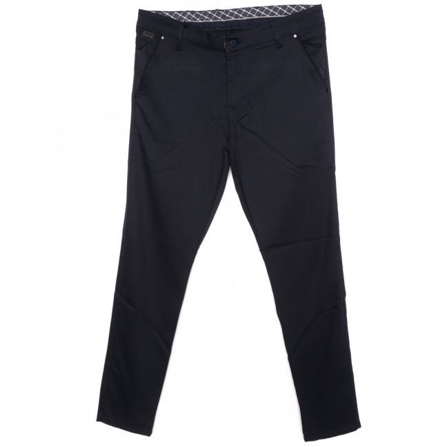 0063-KLS батал New Jarsin брюки мужские батальные темно-синие осенние стрейч-котон (33-40, 7 ед.) New Jarsin: артикул 1097028