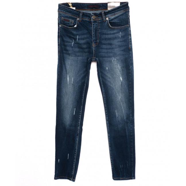 0514 REDMOON джинсы мужские с царапками синие осенние стрейчевые (30-36, 6 ед.)  REDMOON: артикул 1097436