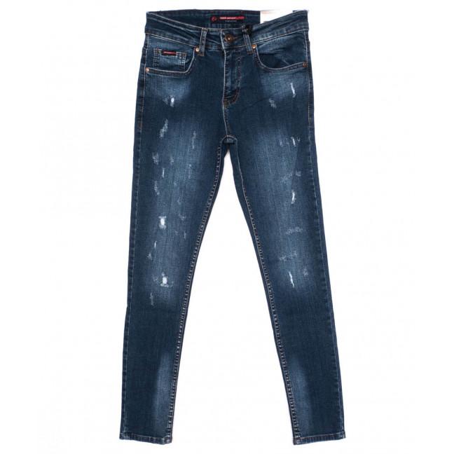 0487 REDMOON джинсы мужские с царапками синие осенние стрейчевые (29-36, 6 ед.)  REDMOON: артикул 1097435