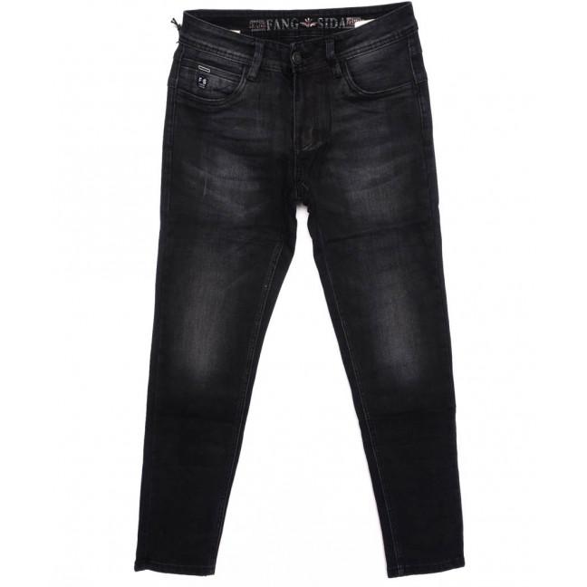 8163 Fangsida джинсы мужские молодежные темно-серые осенние стрейчевые (26-33, 8 ед.) Fangsida: артикул 1096963
