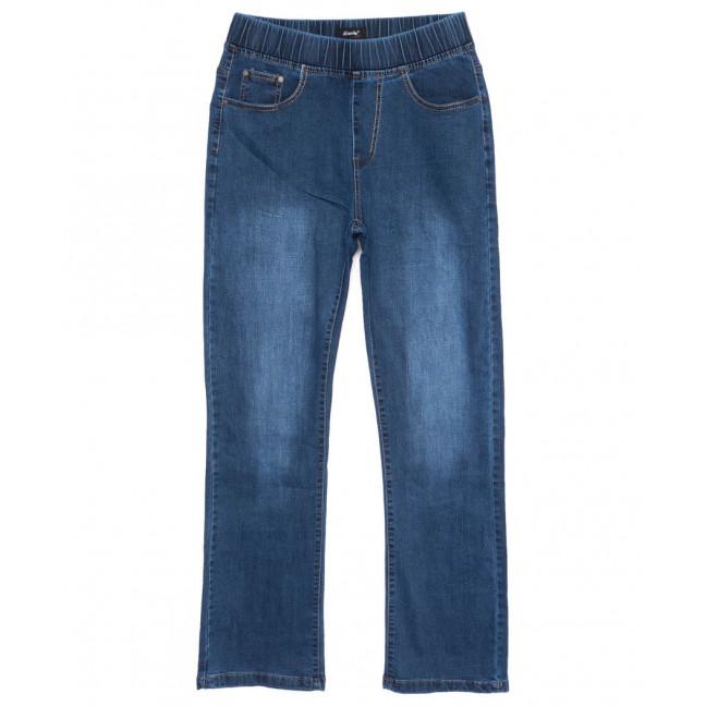 6281 DAWEIDA джинсы женские батальные на резинке синие осенние стрейчевые (32-42, 6 ед) DAWEIDA: артикул 1099613