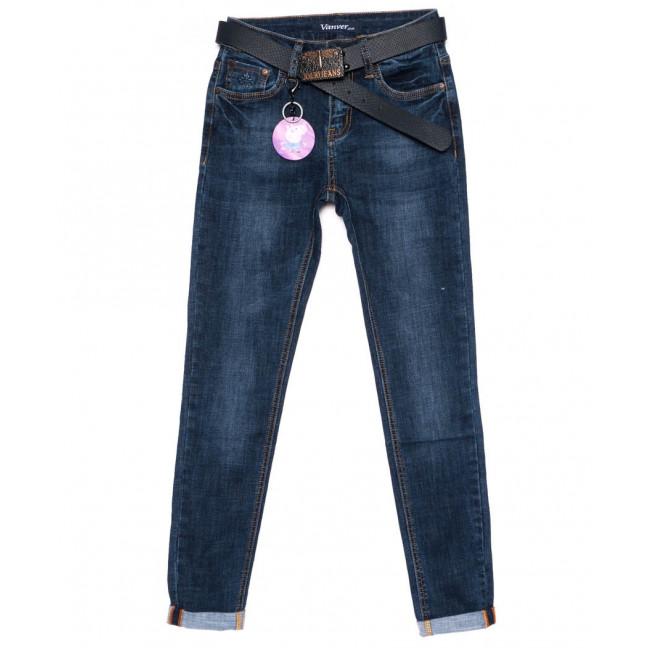 8165 Vanver джинсы женские с подкатом синие осенние стрейчевые (25-30, 6 ед.) Vanver: артикул 1099368