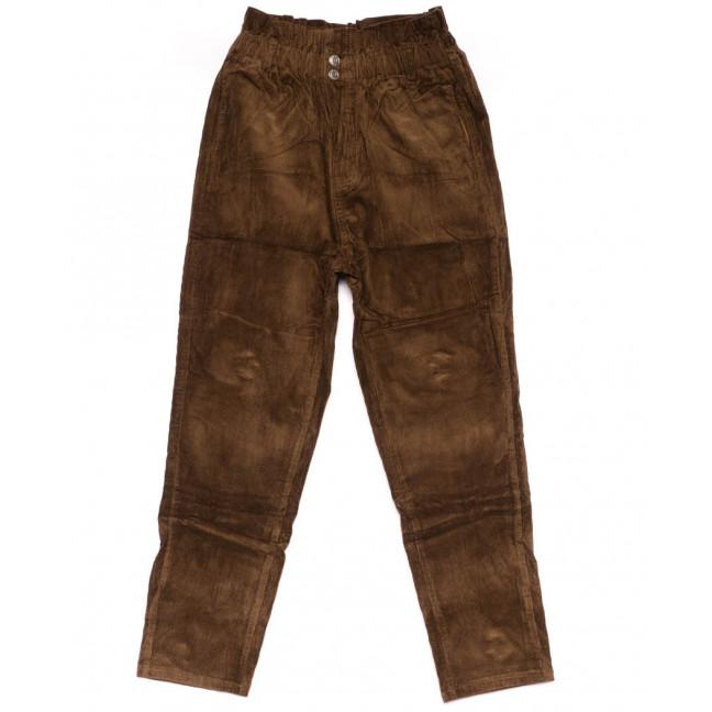 2011-5 X брюки женские вельветовые на резинке осенние стрейчевые (S-2XL, 5 ед.) X: артикул 1100145
