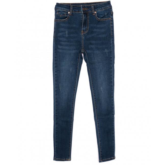 3443 New jeans американка с царапками синяя осенняя стрейчевая (25-30, 6 ед.) New Jeans: артикул 1099350