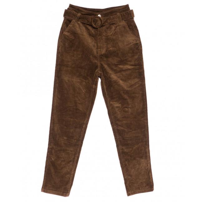 2010-5 X брюки женские вельветовые с поясом осенние стрейчевые (S-2XL, 5 ед.) X: артикул 1100140
