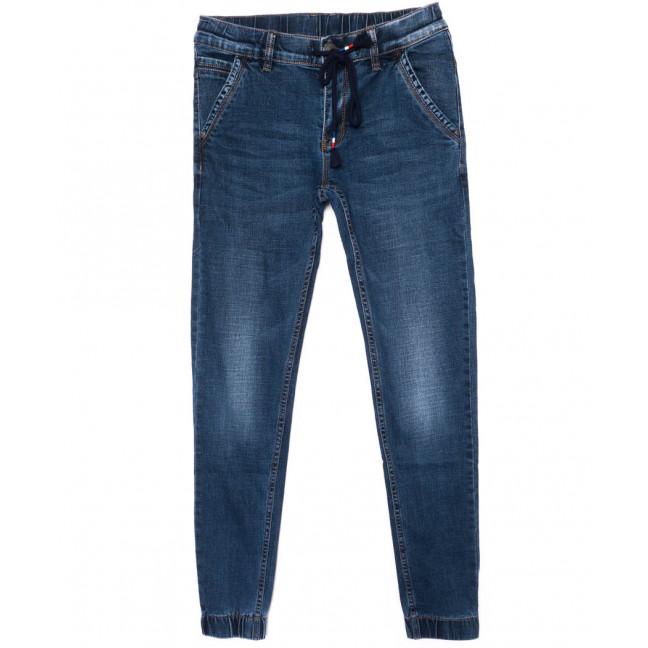 9916 X джинсы мужские молодежные синие осенние стрейч-котон (28-36, 8 ед.) X: артикул 1098919