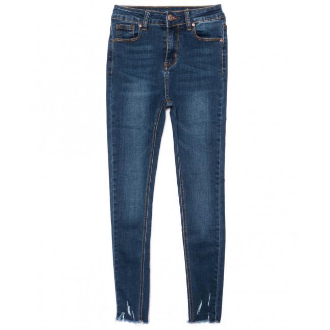 3466 New jeans американка с царапками синяя осенняя стрейчевая (25-30, 6 ед.) New Jeans: артикул 1099336