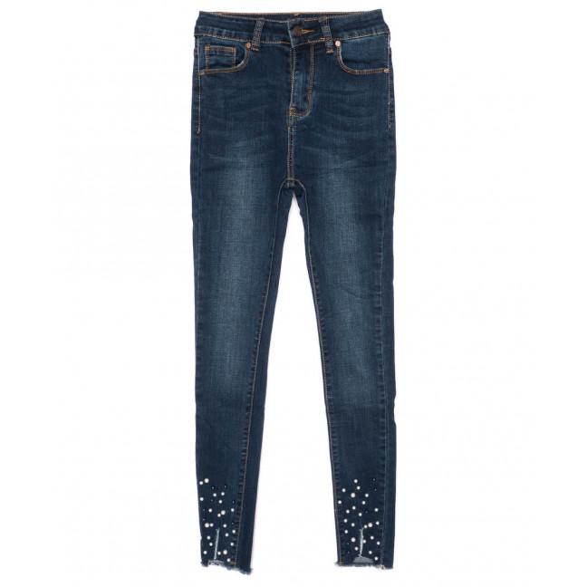 3463 New jeans американка модная синяя осенняя стрейчевая (25-30, 6 ед.) New Jeans: артикул 1099341