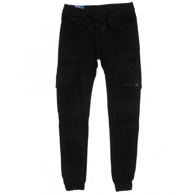 6609-1 REIGOUSE джинсы мужские молодежные на резинке черные осенние стрейчевые (29-38, 8 ед) REIGOUSE: артикул 1099607
