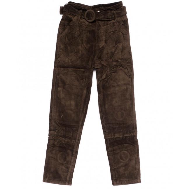 2010-4 X брюки женские вельветовые с поясом осенние стрейчевые (S-2XL, 5 ед.) X: артикул 1100142