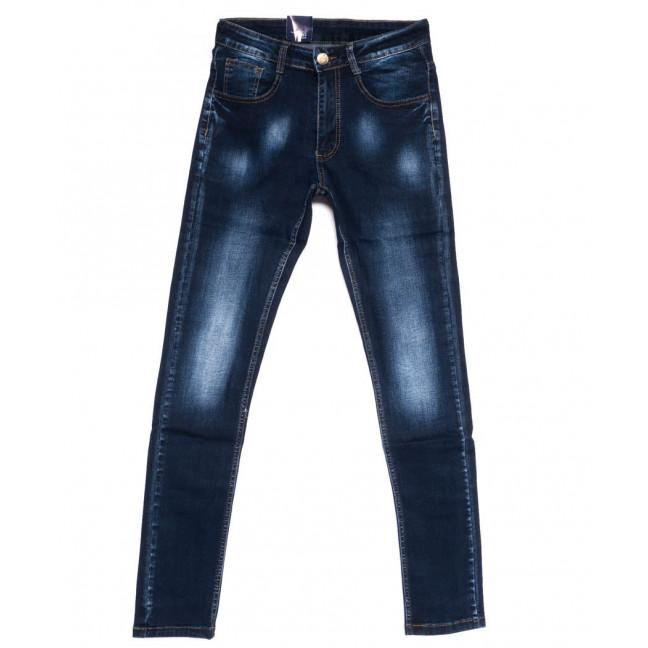 0310 Denim Fashion джинсы мужские зауженные синие осенние стрейчевые (29-36, 8 ед.) Denim Fashion: артикул 1099834