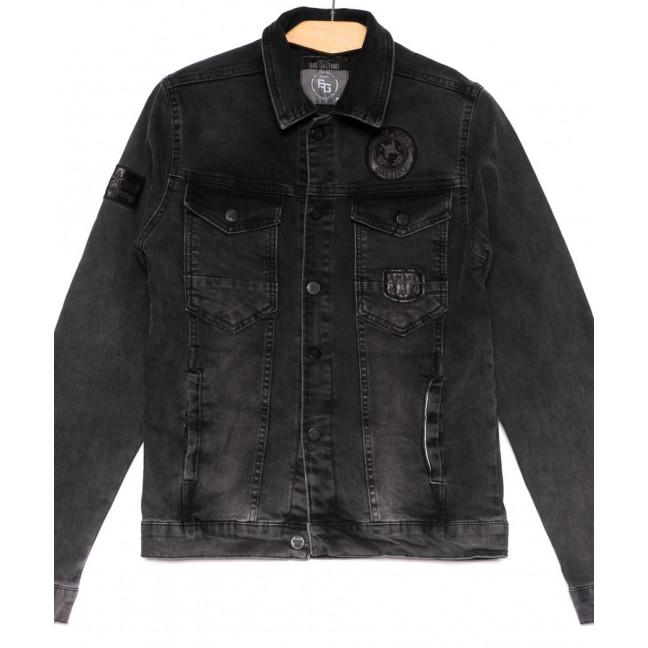 3011 Big Gastino куртка мужская джинсовая темно-серая осенняя стрейчевая (S-XL, 5 ед.) Big Gastino: артикул 1100216