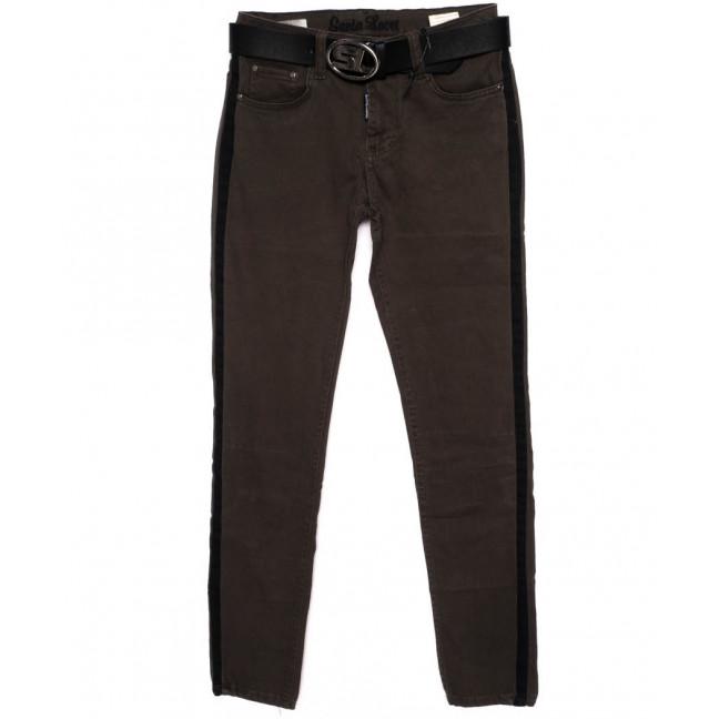 0312-482-лампас Santa Lucci брюки женские с лампасами хаки осенние стрейчевые (26-30, 6 ед.) Santa Lucci: артикул 1098782