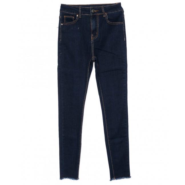 3471 New jeans американка с рванкой синяя осенняя стрейчевая (25-30, 6 ед.) New Jeans: артикул 1099318