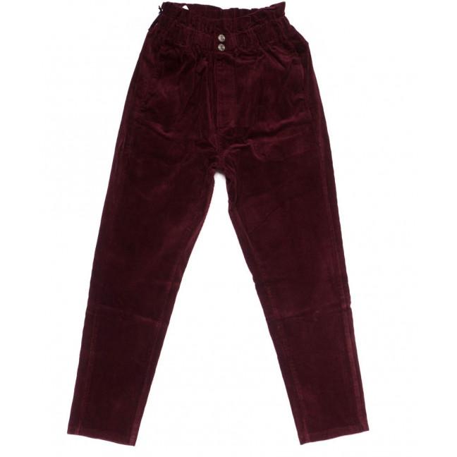 2010-2 X брюки женские вельветовые с поясом осенние стрейчевые (S-2XL, 5 ед.) X: артикул 1100139