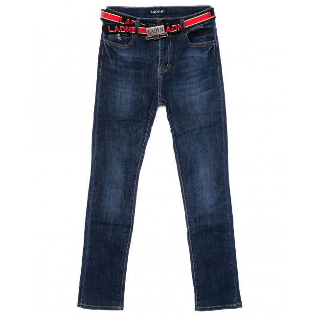 1454 Lady N джинсы женские полубатальные синие осенние стрейчевые (28-33, 6 ед.) Lady N: артикул 1099263