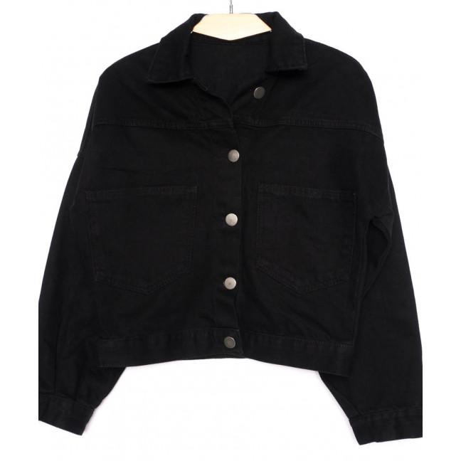 1009-1 Defile куртка женская джинсовая черная осенняя котоновая (S-L, 4 ед.) Defile: артикул 1099228