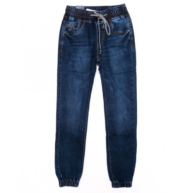 9232 Baron джинсы мужские молодежные на резинке с царапками синие осенние стрейчевые (28-36, 8 ед.) Baron: артикул 1098851