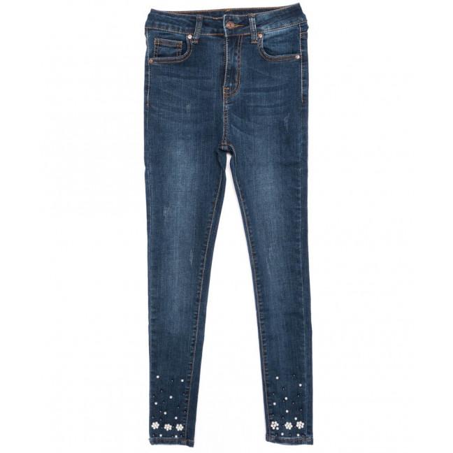 3464 New jeans американка с царапками модная синяя осенняя стрейчевая (25-30, 6 ед.) New Jeans: артикул 1099339