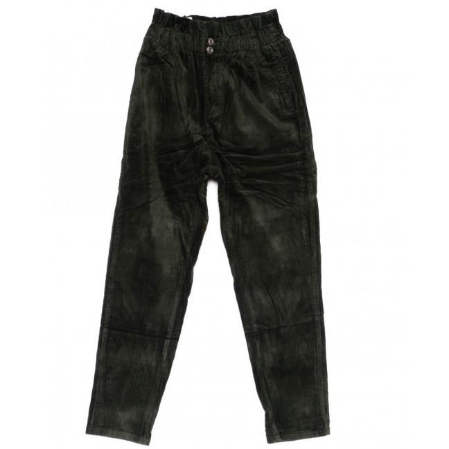 2011-2 X брюки женские вельветовые на резинке осенние стрейчевые (S-2XL, 5 ед.) X: артикул 1100144
