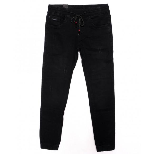 0012-0271-X LS джинсы мужские с царапками на резинке осенние стрейчевые (29-36, 8 ед.) LS: артикул 1098818
