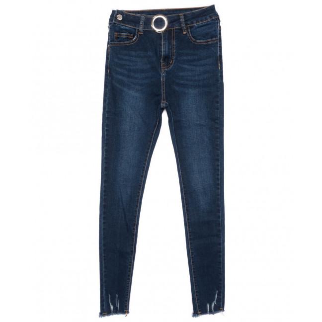 3445 New jeans американка с царапками синяя осенняя стрейчевая (25-30, 6 ед.) New Jeans: артикул 1099314