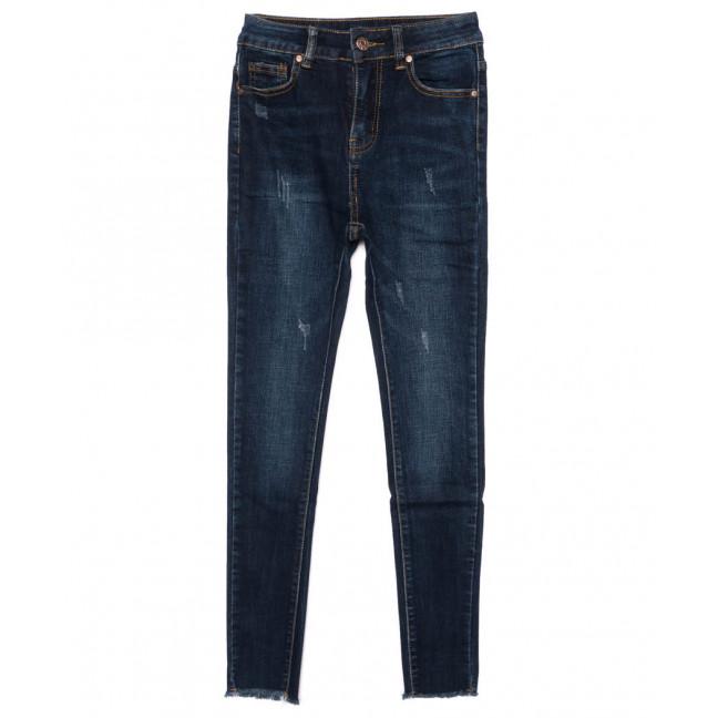 3459 New jeans американка с царапками синяя осенняя стрейчевая (25-30, 6 ед.) New Jeans: артикул 1099345
