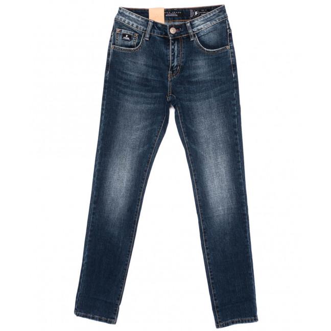 2177 Fang джинсы мужские молодежные синие осенние стрейчевые (28-34, 8 ед.) Fang: артикул 1098996