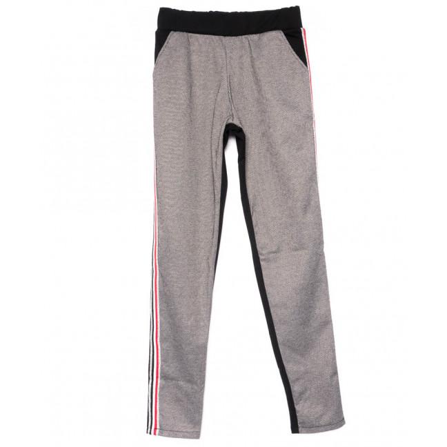 0219-серый X брюки женские серые на меху зимние стрейчевые (42-46, 3 ед) X: артикул 1101458