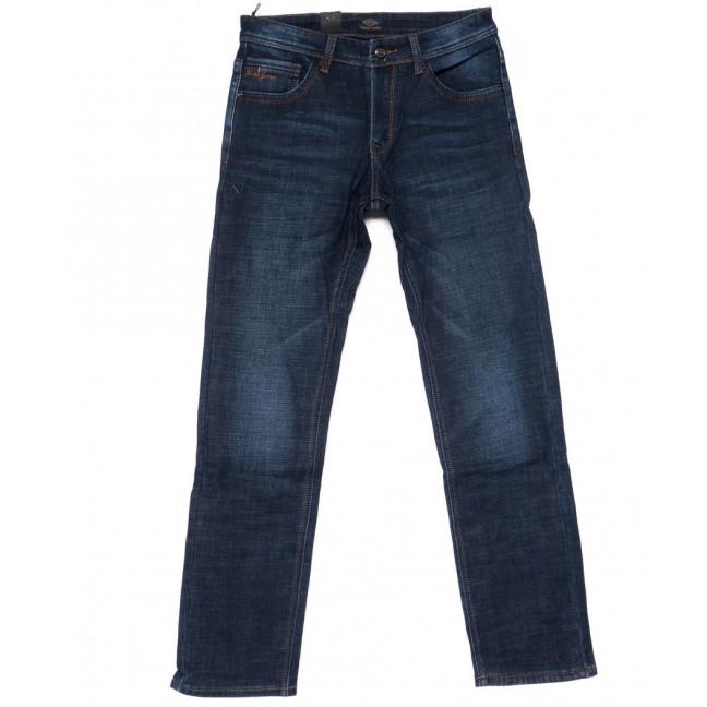 8222 FHOUS джинсы мужские полубатальные синие на флисе зимние стрейчевые (32-40, 8 ед.)  FHOUS: артикул 1101622