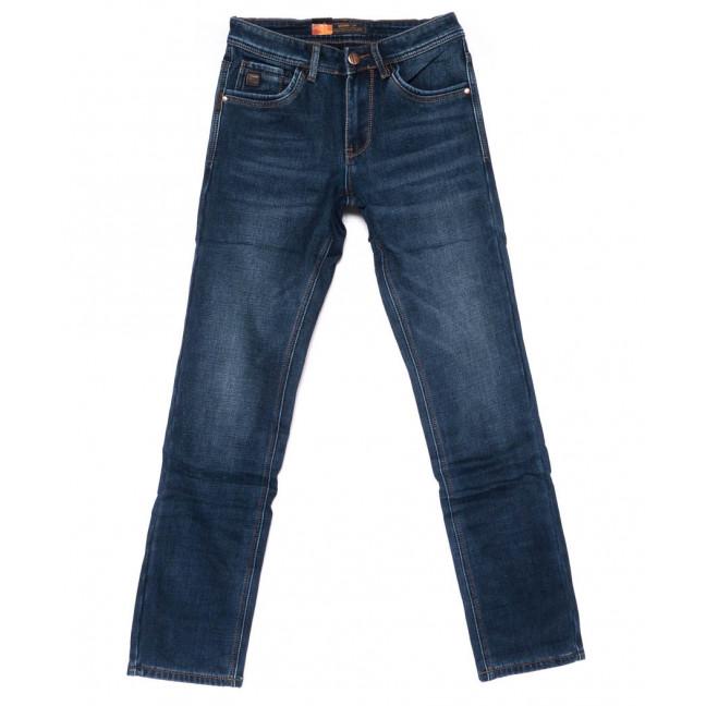 18239 U&P джинсы мужские синие на флисе зимние стрейчевые (29-38, 8 ед.)  U&P: артикул 1101623