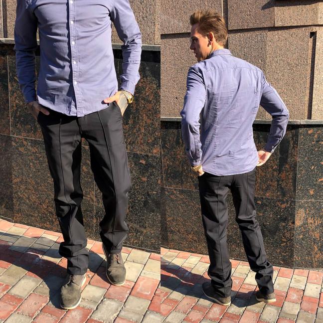 1267-R359 Prodigy брюки мужские молодежные темно-серые весенние стрейчевые (28-34, 7 ед.) Prodigy: артикул 1106778
