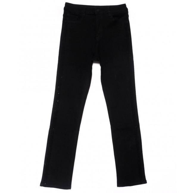 1487 Lady N джинсы женские батальные со стразами черные осенние стрейчевые (31-38, 6 ед.) Lady N: артикул 1102055