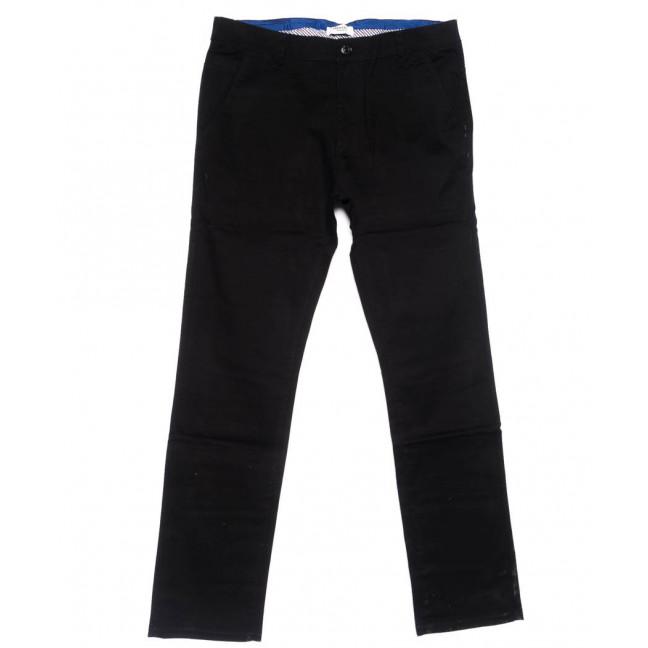 0718-34 New Feerars брюки мужские черные осенние стрейчевые (30-40, 8 ед.) New Feerars: артикул 1102378