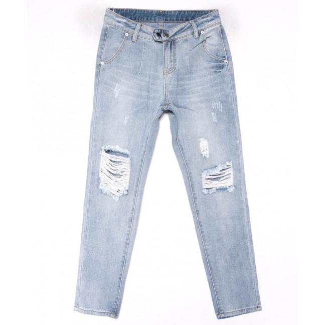 3616 New jeans мом голубой с царапками весенний коттоновый (25-30, 6 ед.) New Jeans: артикул 1102245