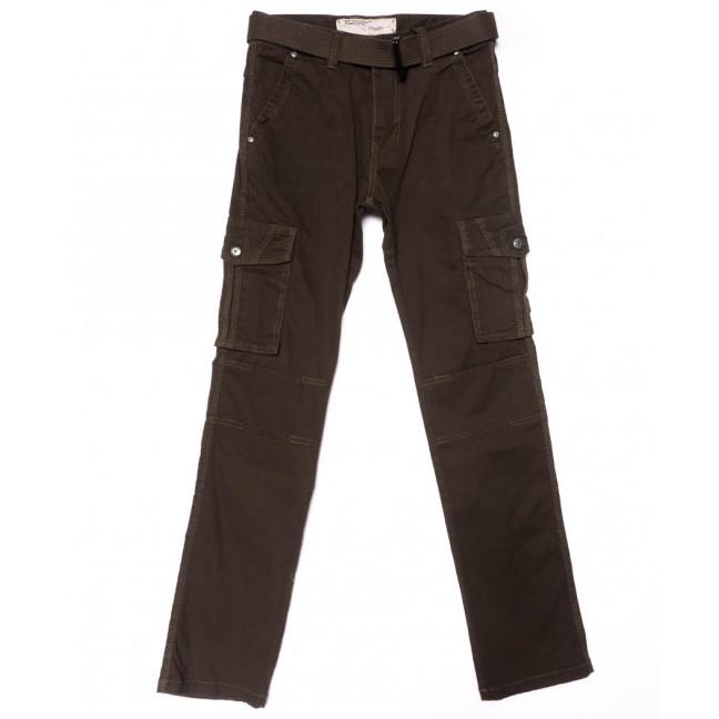 8813-2 коричневые Iteno брюки мужские карго цвета хаки осенние стрейчевые (30-38, 6/12 ед.) Iteno: артикул 1102136