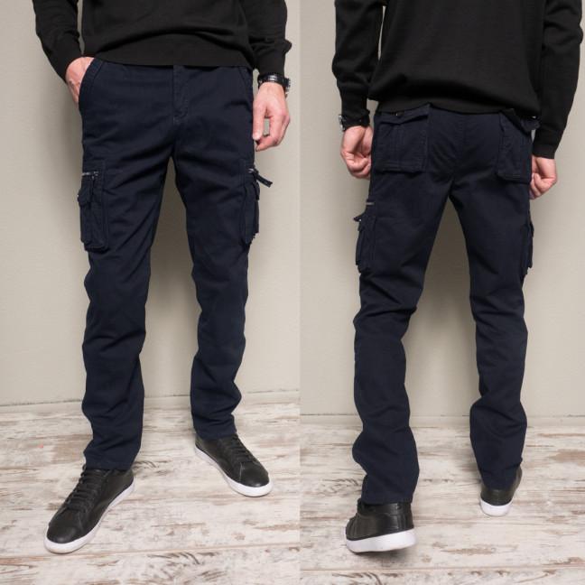 1862-dark blue Forex брюки мужские карго на флисе зимние стрейч-котон (30-40, 10 ед.) Forex: артикул 10994371