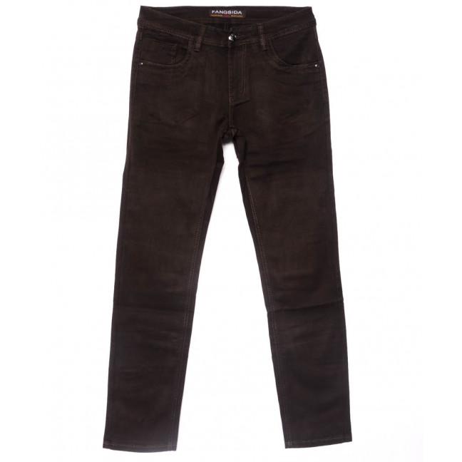 4047 Fangsida джинсы мужские полубатальные коричневые весенние стрейчевые (32-38, 8 ед.)  Fangsida: артикул 1102863